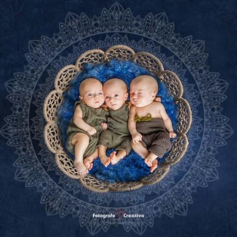 Servizio fotografico newborn di tre gemelli - Twins newborn photography