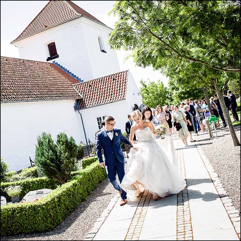 bryllupsfoto kirke Nordjylland