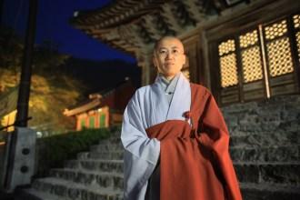 Suwon a hvězdné nebe před hlavní svatyní...