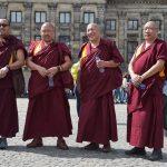 Monniken op de Dam Amsterdam