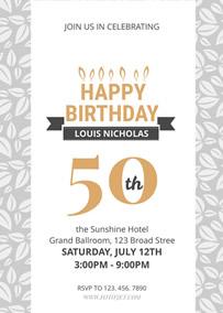 own 50th birthday invitations online