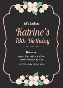 make 18th birthday invitations online