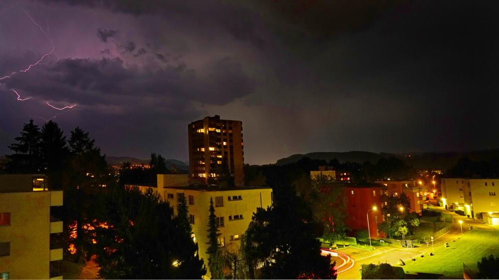 Abend Gewitter über Flurhof