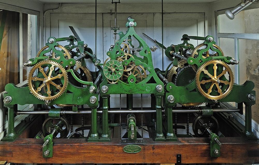 Uhrwerk in der Kirche St. Otmar St. Gallen