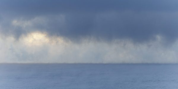 Kuldefenomen på sjøen en ekstremt kald vinterdag mellom Moss og Horten.
