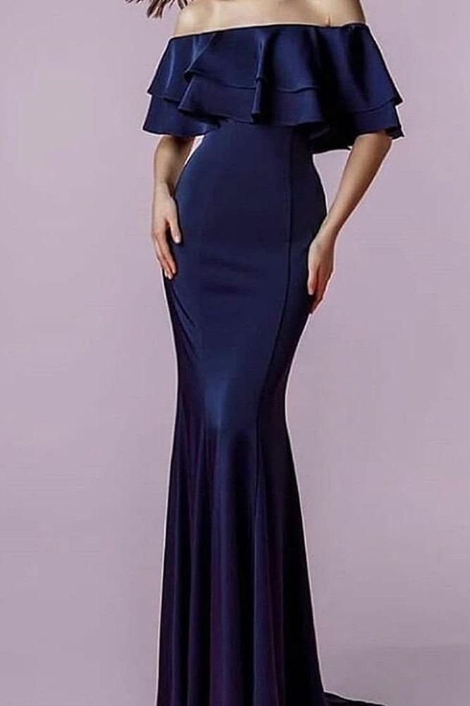 коктейльные платья макси синее