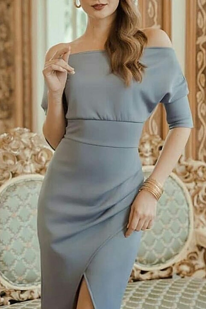 коктейльные платья серое