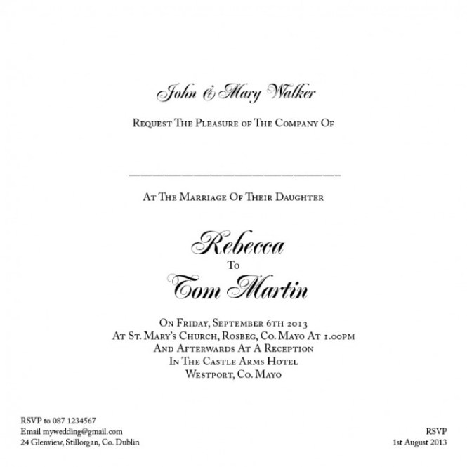 Wedding Invitations Without Pas Names Invitation Ideas