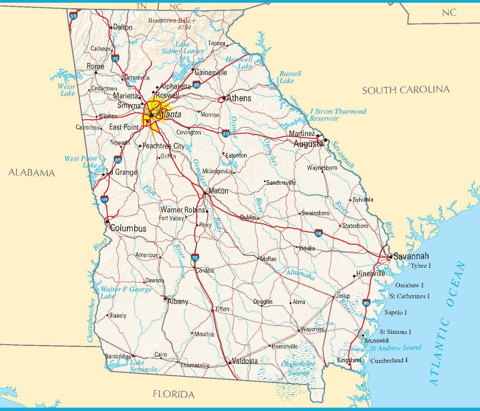 Georgia Map Printable Worksheet