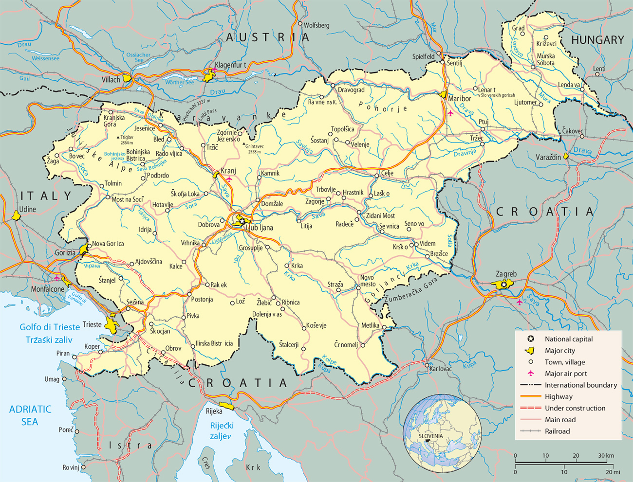 Slovenia Map Rich Image And Wallpaper