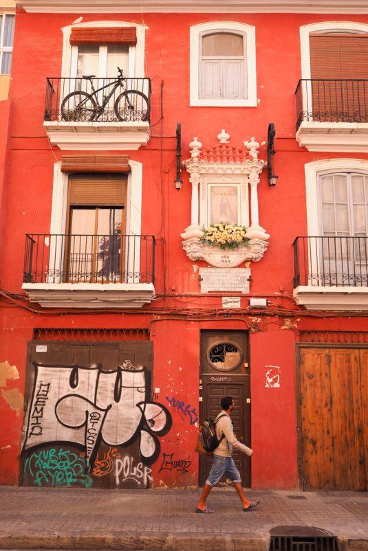 Typisk hus i Valencia