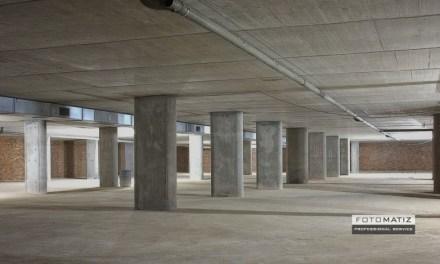 The basement parking floor