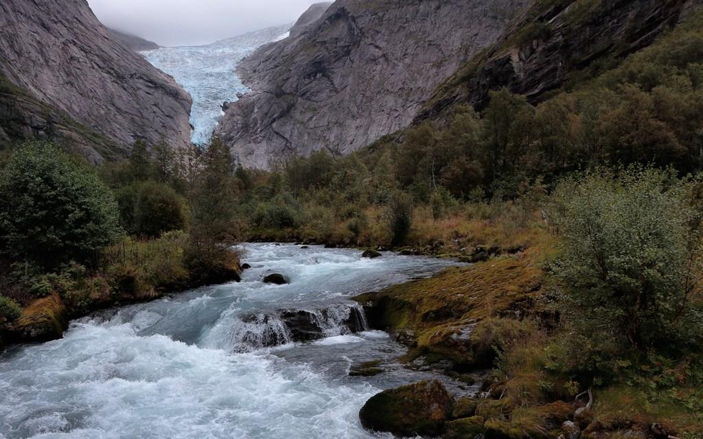 Visit to the Briksdal Glacier