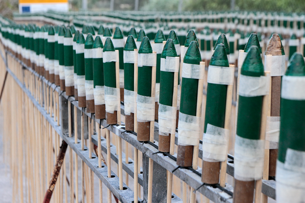 More than 18,000 rockets awaiting to be launched