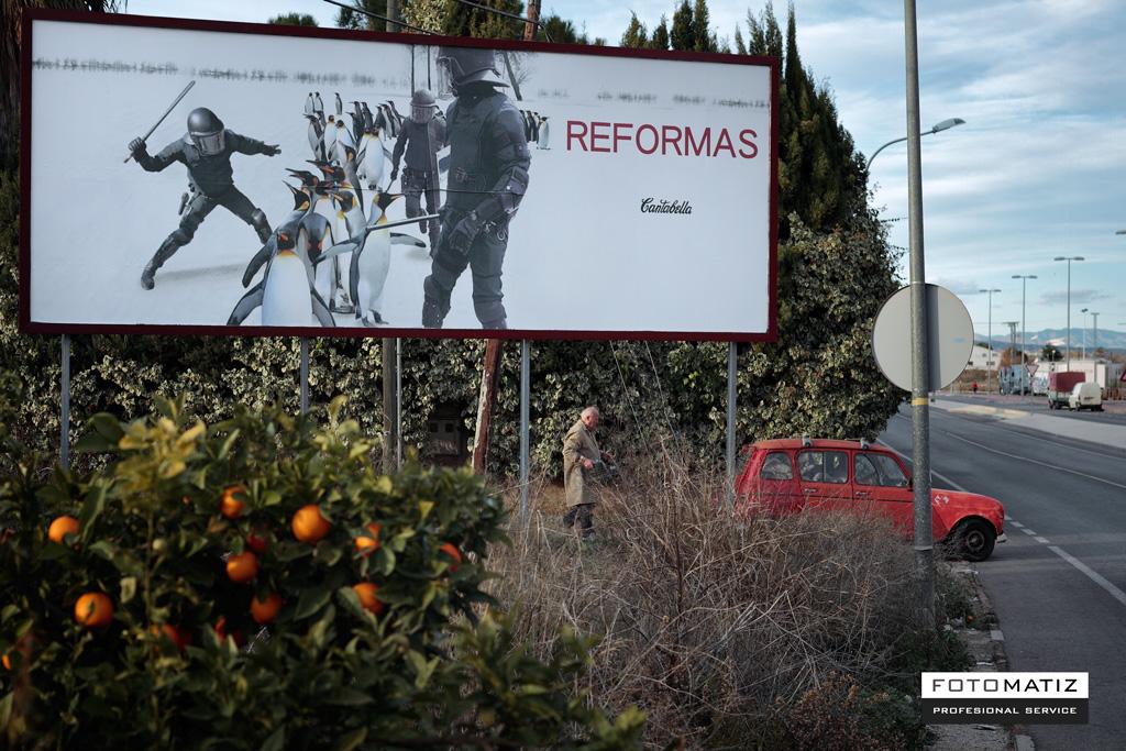 Exposición Reformas en vallas Publicitarias - Cantabella