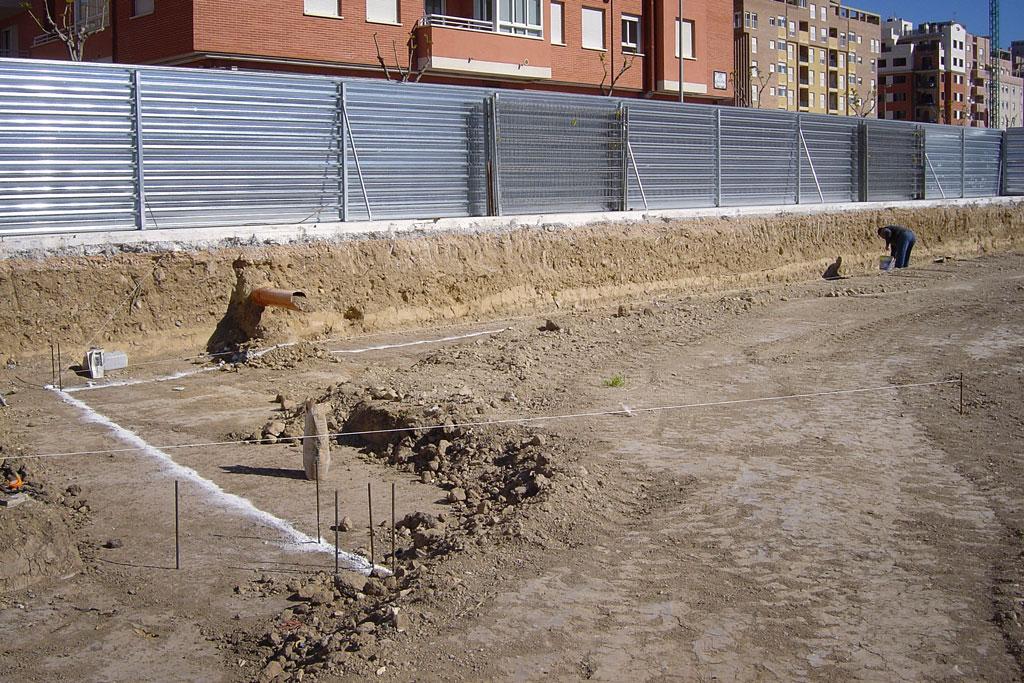 Preparando y marcando la excavación
