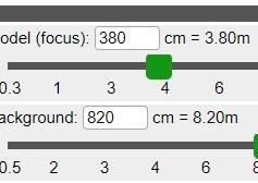 Pannello Distanza (C) - immagine dell'applicazione