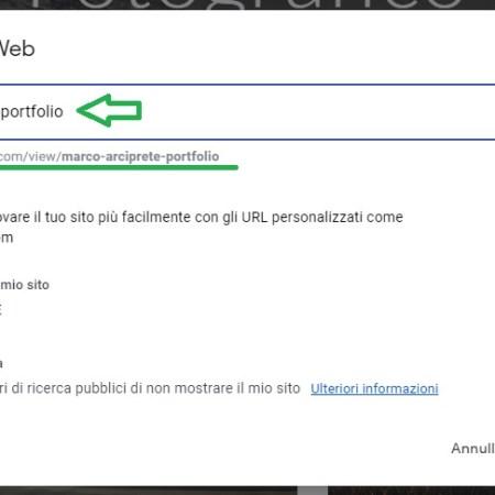 Google Sites - Pubblicare un sito web