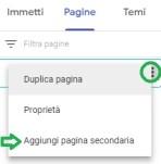 Google Sites - Aggiunta di una pagina