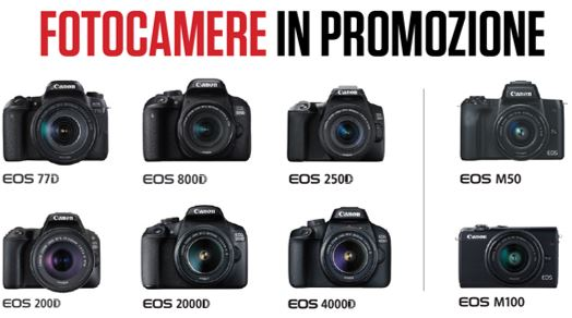 Promozione Fotocamere Canon EOS