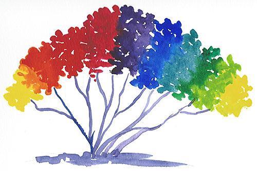 Árbol de colores
