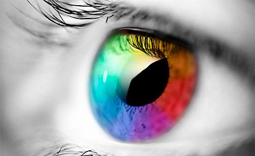Colores en el ojo