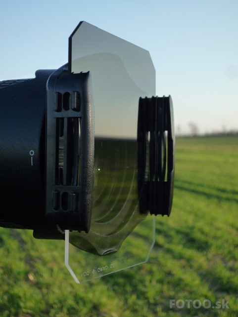 Filter HITECH v držiaku na objektíve