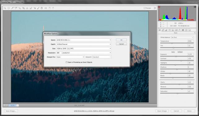 Nastavenie pracovného prostredia v Adobe Camera Raw