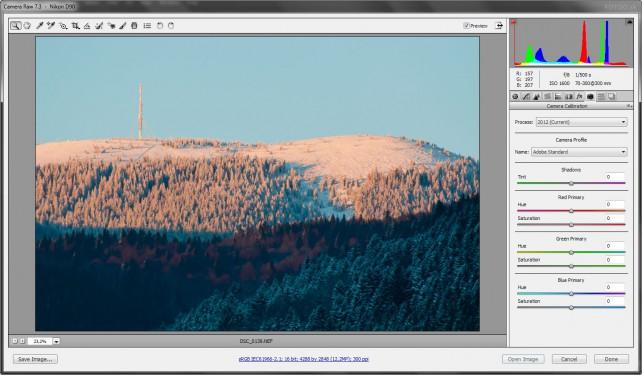 Nastavenie farebného profilu v Adobe Camera Raw