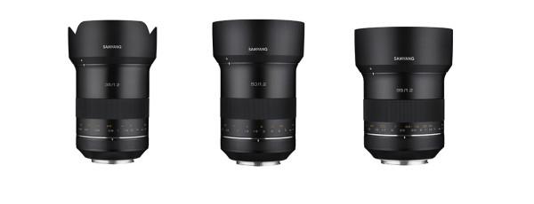 Neu hinzugekommen zu Samyangs XP-Objektiven sind die Brennweiten 35, 50 und 85 mm für Canon EF.