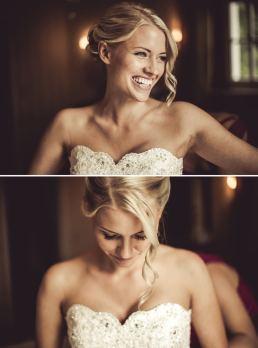 Hochzeitsfotograf macht Bilder vom getting ready der Braut.
