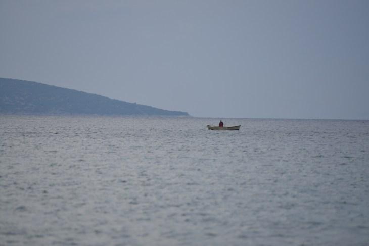 Croatia / Chorwacja, Krk, fisherman / wędkarz