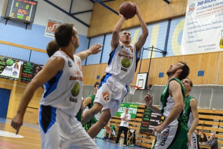 Trener DAAS Basket Hills Bielsko-Biała, Grzegorz Błotko w akcji