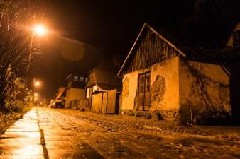 Kazimierz Dolny nad Wisłą, ul. Puławska nocą