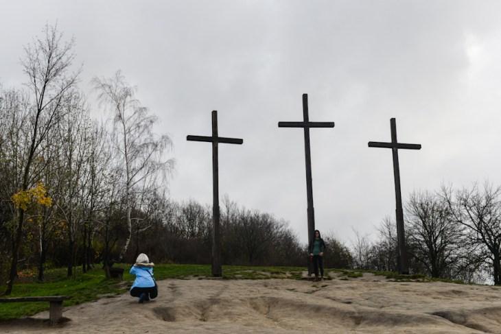 Kazimierz Dolny nad Wisłą, wzgórze trzech krzyży
