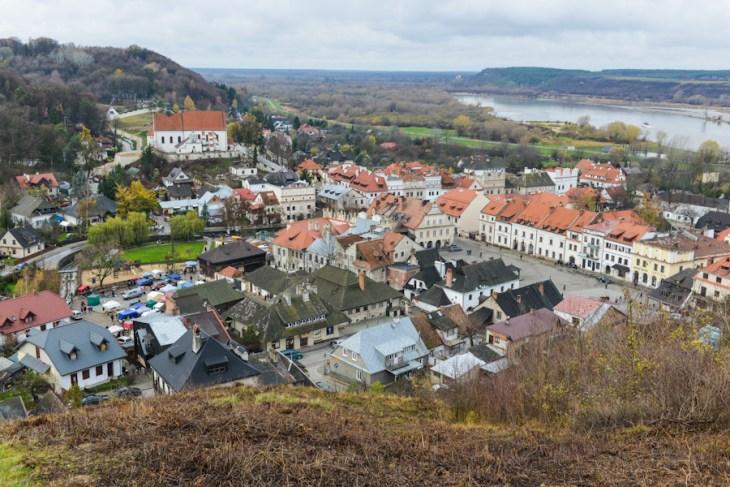 Kazimierz Dolny nadWisłą, widok zewzgórza trzech krzyży