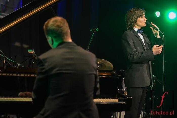 Wojciech Myrczek i Paweł Tomaszewski during concert