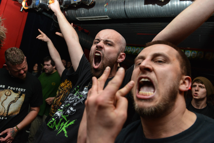 Metal concert in Ostrava, Czech Republic