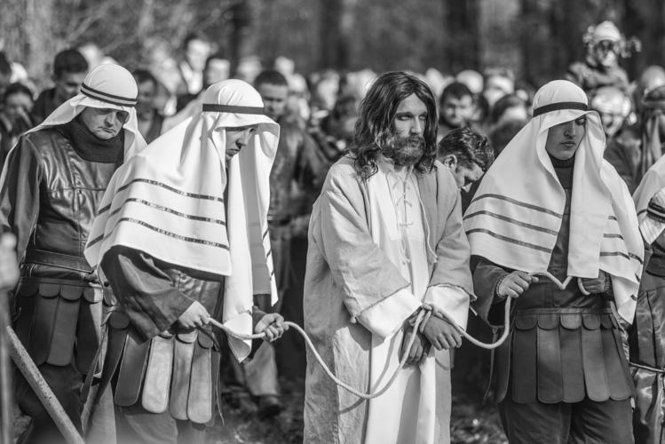 Jezus prowadzony na sąd Piłata
