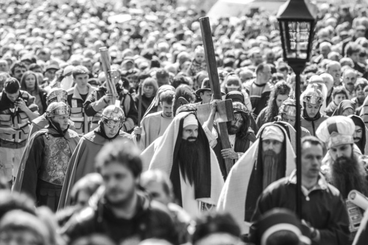 Religious procession in Poland