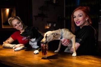 Wokalistki Asteya Dec i Aicha Słoniec wraz ze swoimi psami