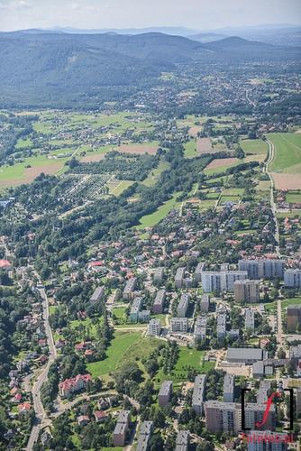 Bielsko-Biala z samolotu