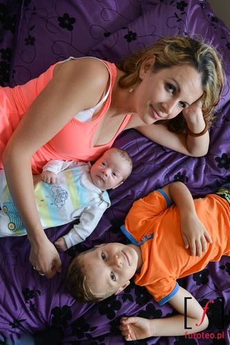 Portret dzieci z mama