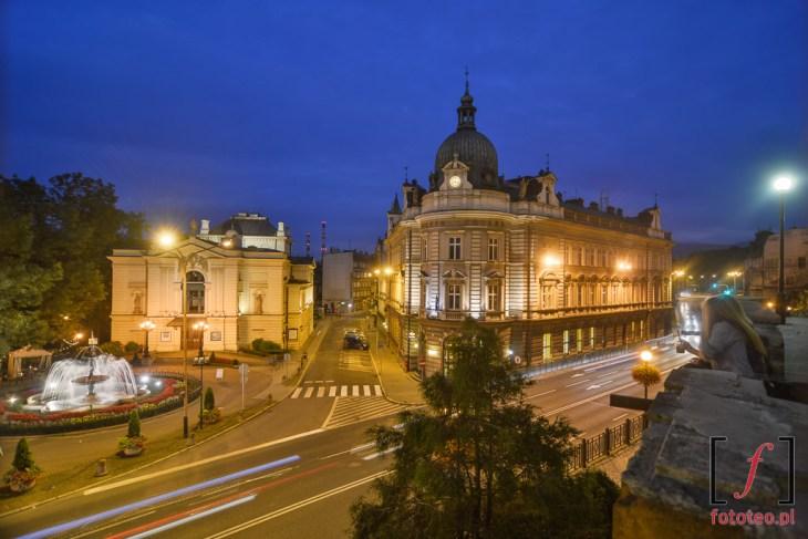 Teatr i Poczta w Bielsku. Fotografia z murów zamku