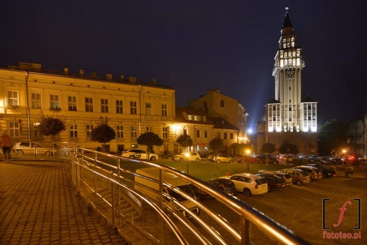 plac przedKatedrą św.Mikołaja. Fotografia Bielsko-Biała
