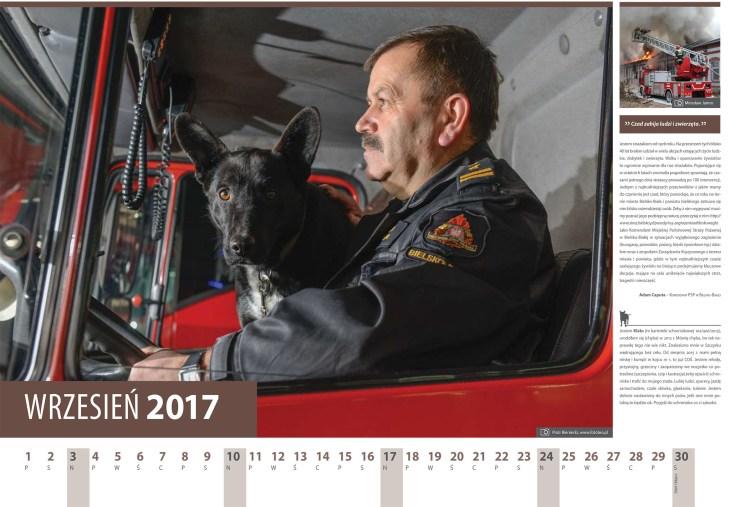 Kalendarz 2017 wrzesien komendant Strazy Pozarnej Adam Caputa