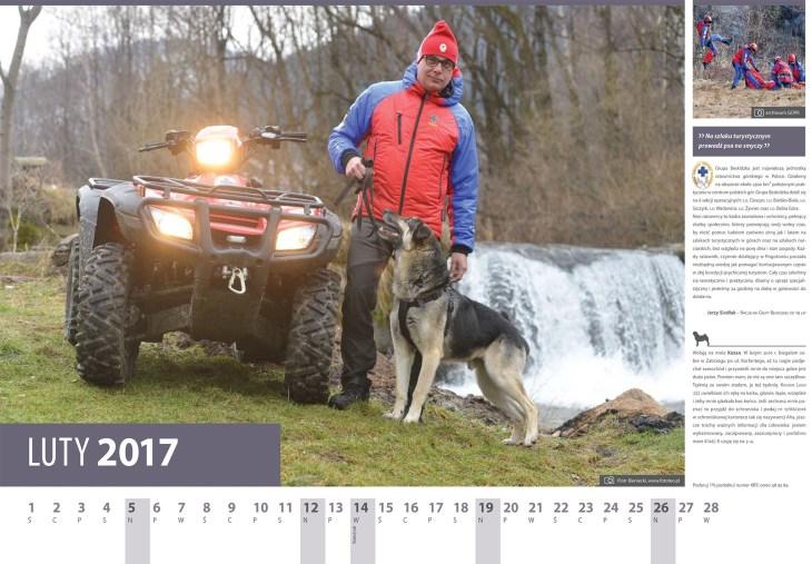 Kalendarz 2017 luty. Naczelnik GOPR Jerzy Siodlak