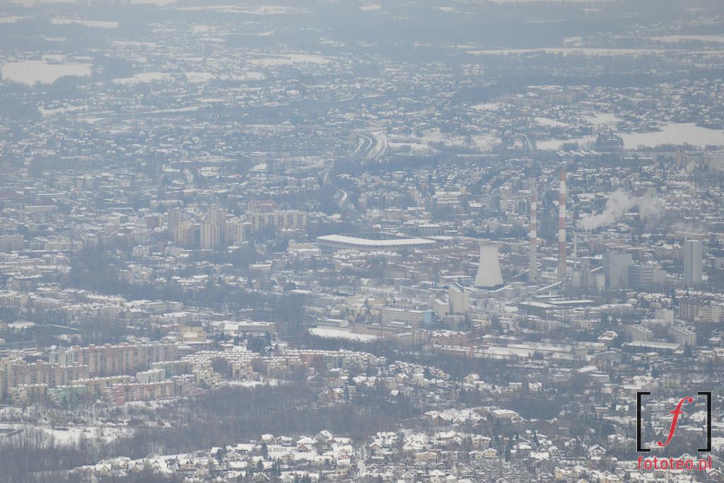 Bielsko-Biala zima, widok z Szyndzielni