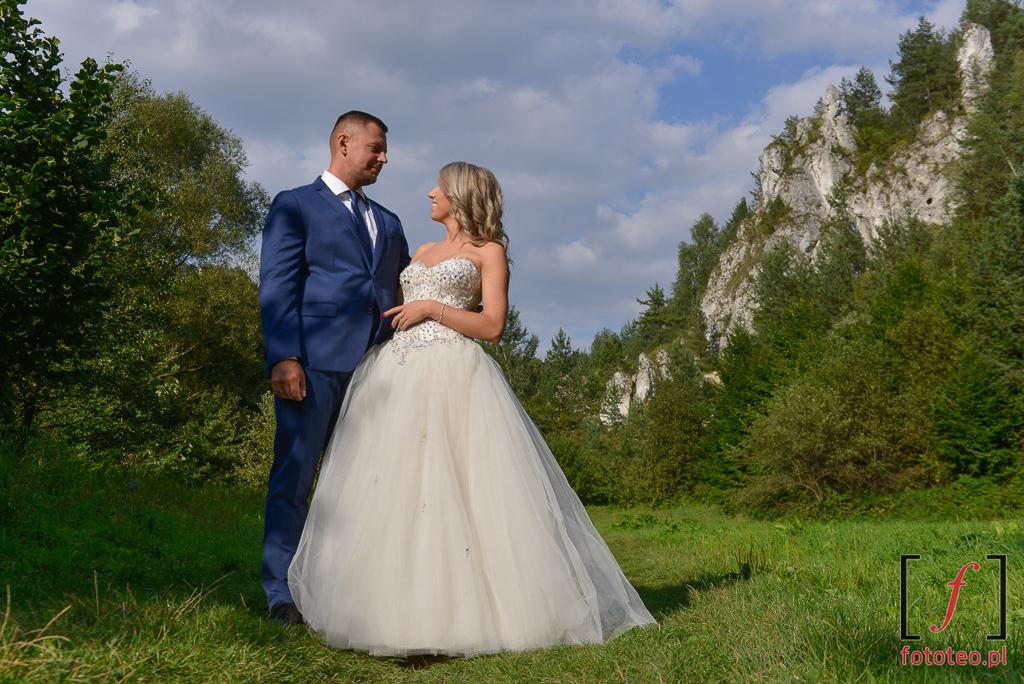Dolina Kobylańska ślubna para