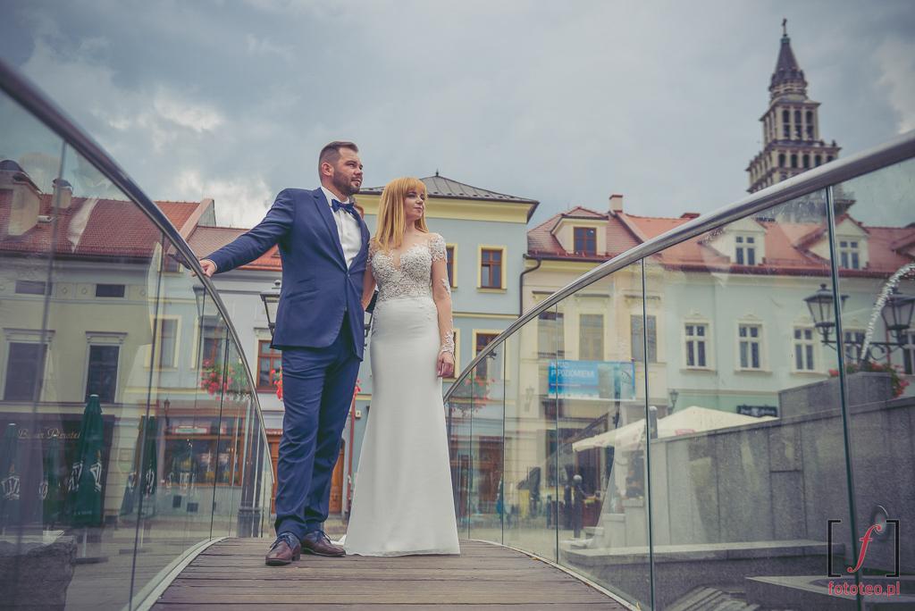 Rynek w Bielsku-Białej, sesja ślubna